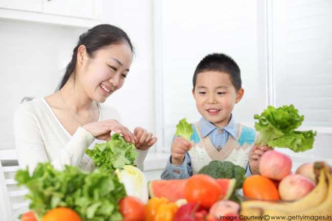 हरी सब्जियों का सेवन