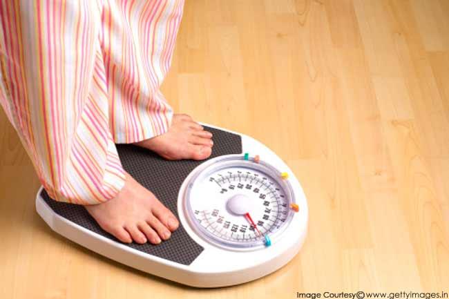 वजन पर नियंत्रण