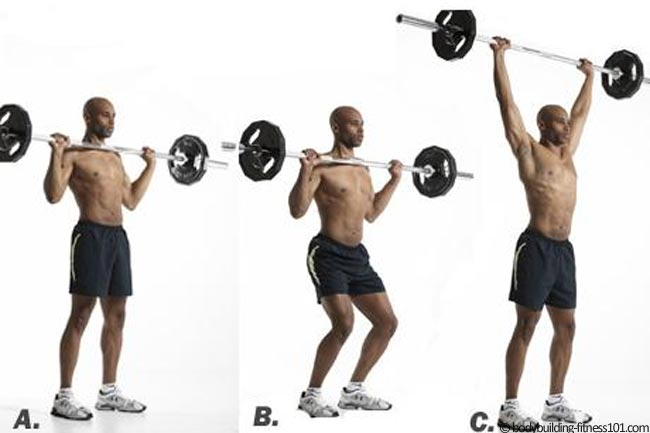 Hang Clean & Push Press