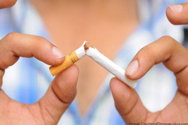 धूम्रपान/शराब छोड़ने के निर्णय की घोषणा
