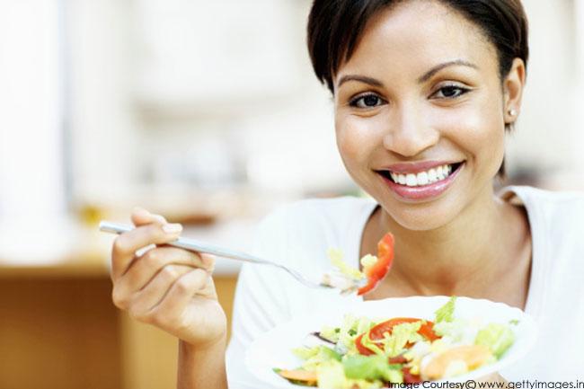 भरपूर पोषक तत्वों वाला भोजन