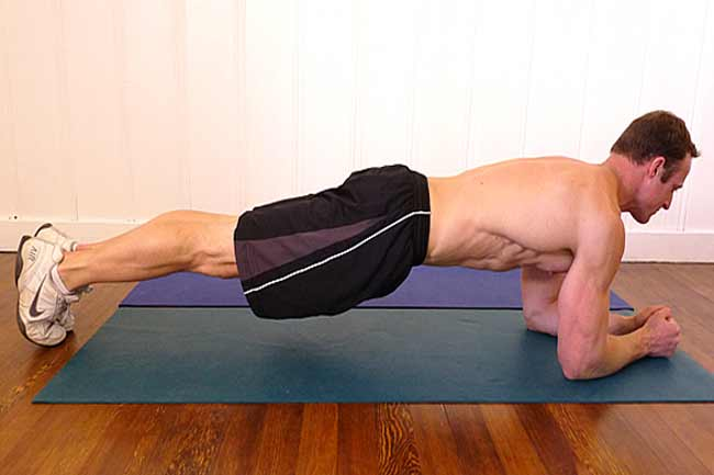 Elbow Plank for 30 sec