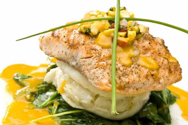 Salmon with Mango Masala