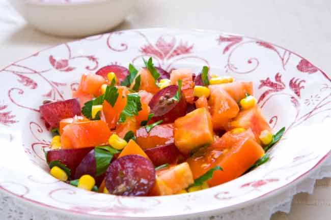 Papaya and Soybean Salad