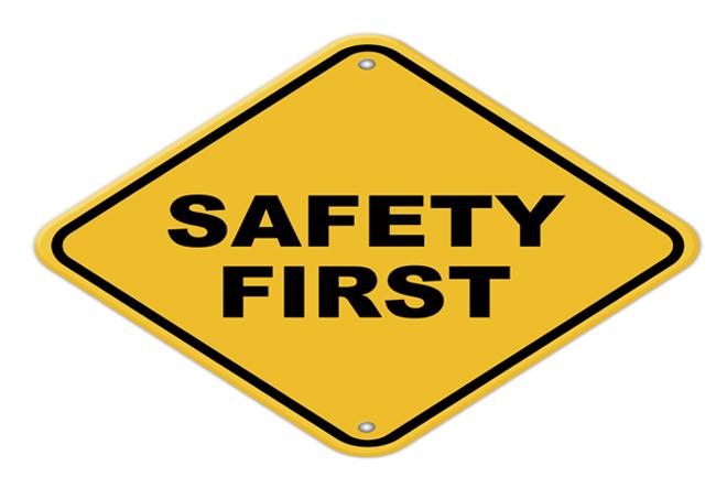 सबसे पहले सुरक्षा