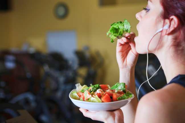 व्यायाम के बाद न खाना