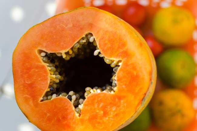पपीता और संतरा