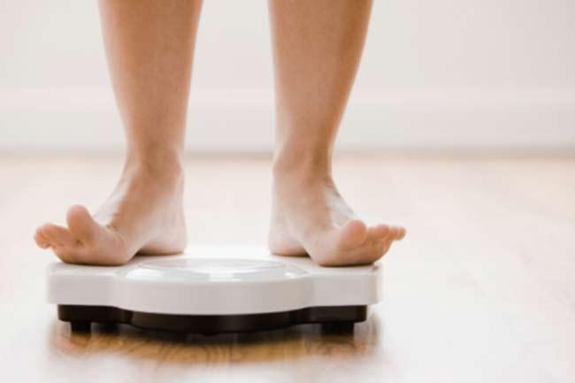 वजन में बदलाव
