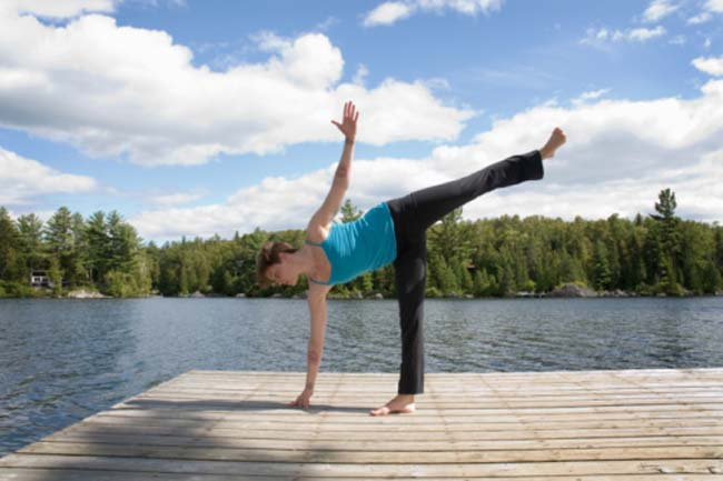 Ardha chandraasana (The half moon posture)