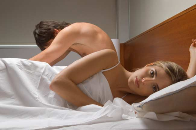 Not informing your partner before climax