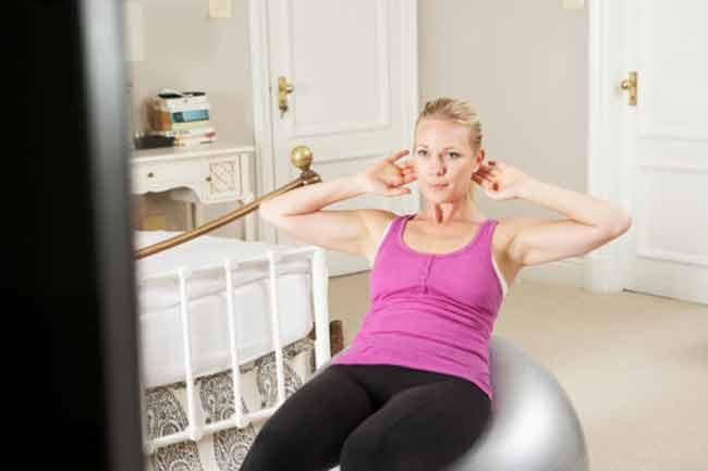 व्यायाम के साथ टीवी देखें