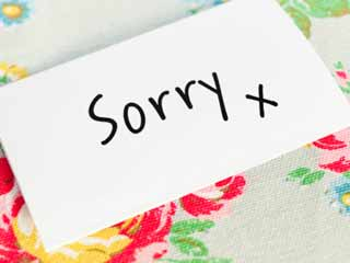 Quit the 'I am Sorry' Habit