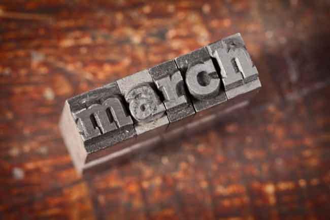 मार्च