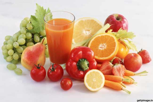 कच्ची सब्जियां और फल