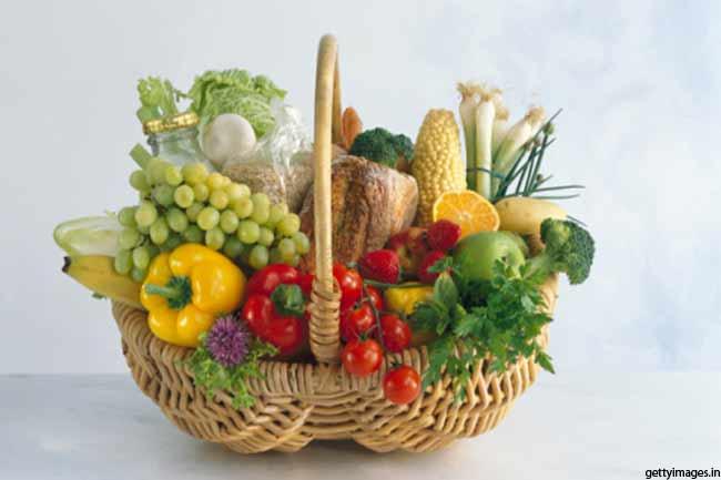 हरी सब्जियां व फल