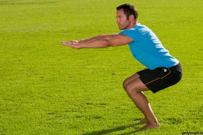 Do squats and overhead presses