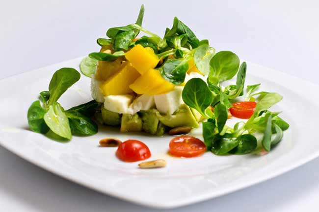 Cheese and Veggie Salad