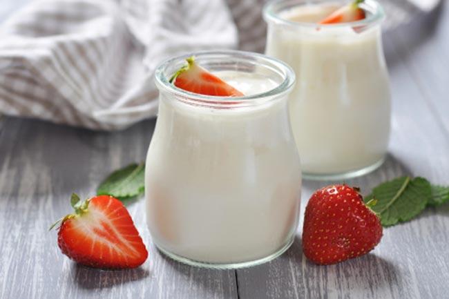 दूध के साथ फल