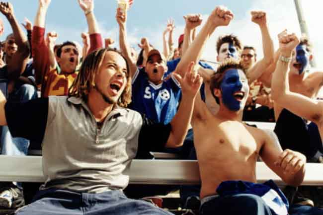 Cheering for your college team