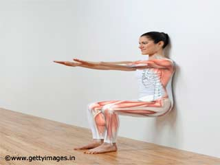 Exercises Without Equipments - Seated Press