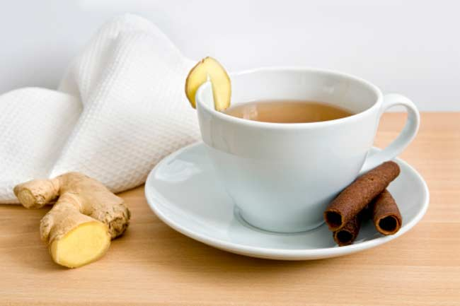 Warm Water and Ginger Tea