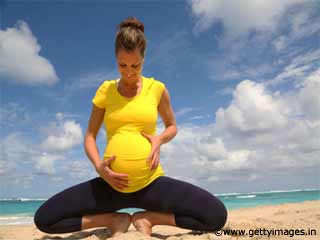 Low Chair Squat Yoga during Pregnancy