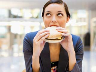 Eating at Office Desk can Make you Obese