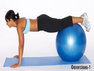 Push Up On Ball - Exercise