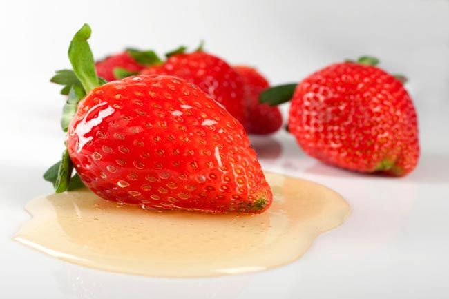 Strawberries and Honey for UV Damage