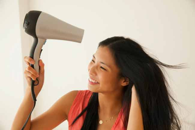Blow Drying Causes Hair Loss