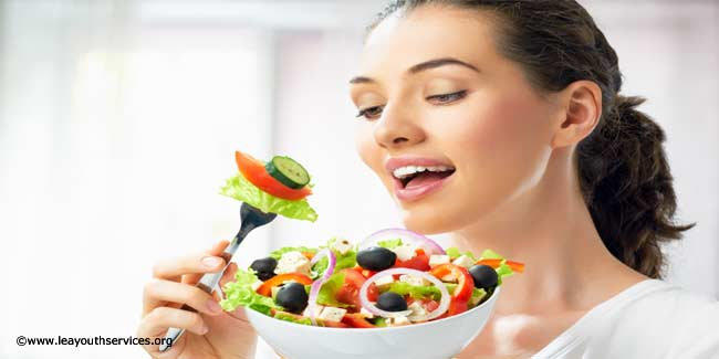 Diet for good health and youthfulness