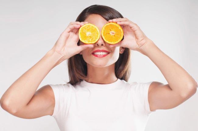 संतरे के छिलके से बना पैक