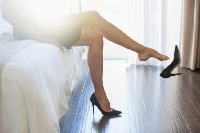 High heels, duh!