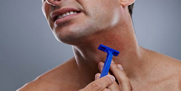 skin infections are caused by razor in Telugu