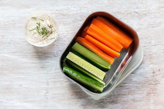 गाजर औऱ खीरा
