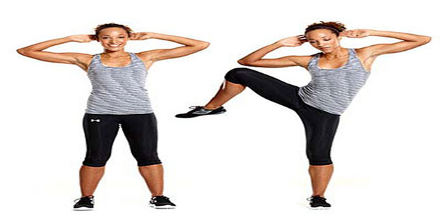 standing side crunch in hindi