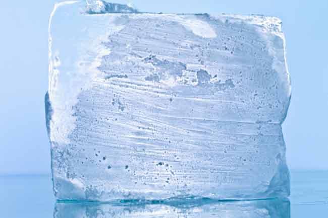 बर्फ से करें कैलोरी बर्न