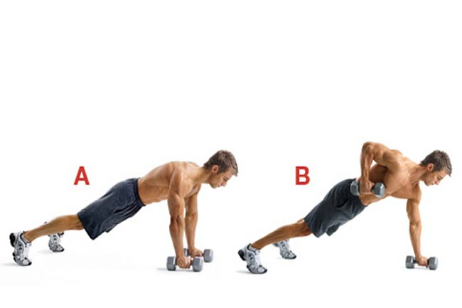 2 A. Dumbbell 1 1/2 Pushup