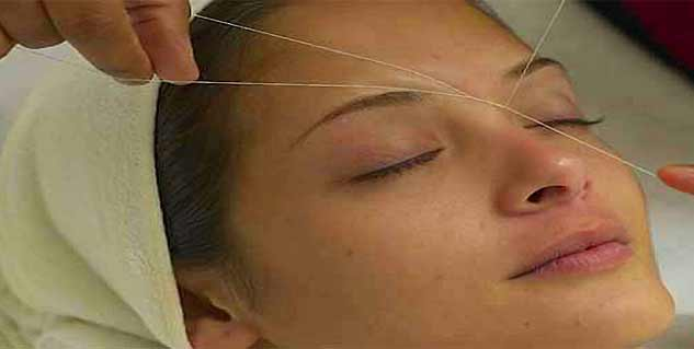 Reducing pain of threading
