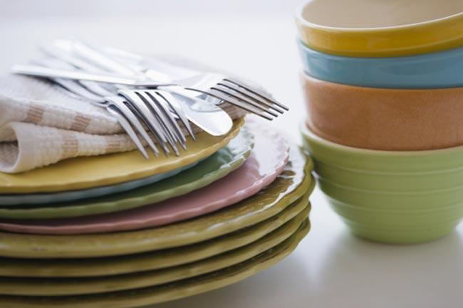 खाने की प्लेट का रंग बदलें