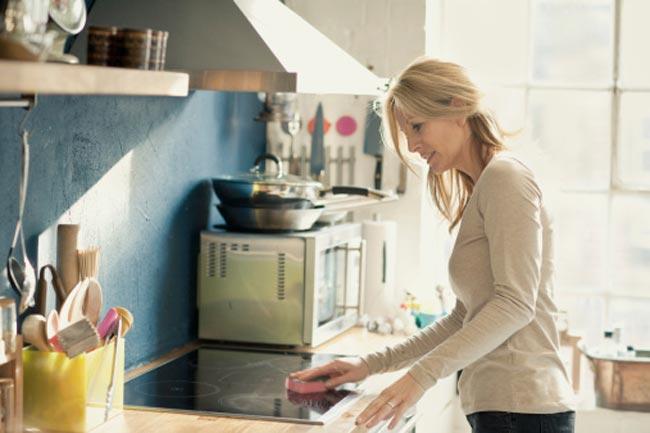 किचन की सफाई
