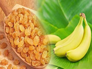 How to use bananas and raisins to lower heart rate