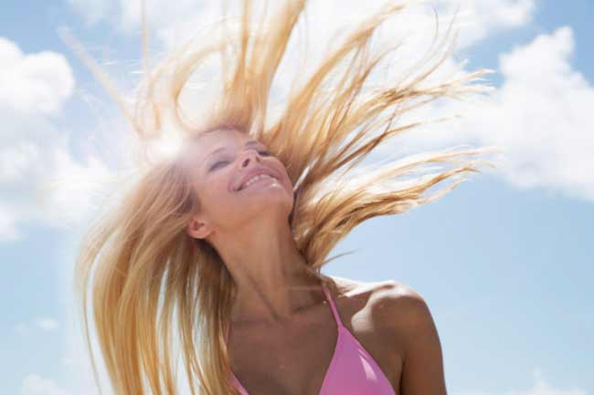 Sun can wreak havoc your hair