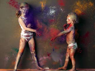 Safety of Children on Holi