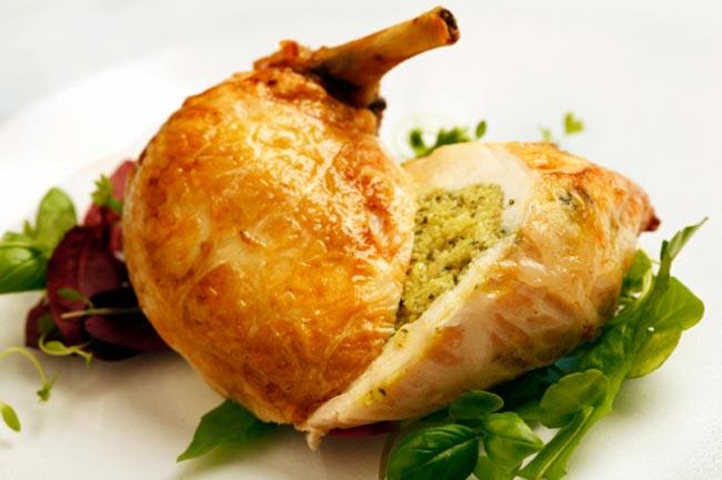 पका हुआ चिकन ब्रीस्ट