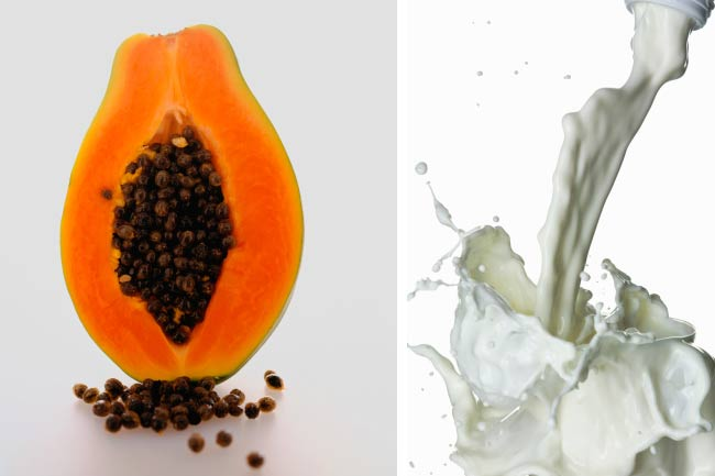 Milk + Papaya= Glowing Skin