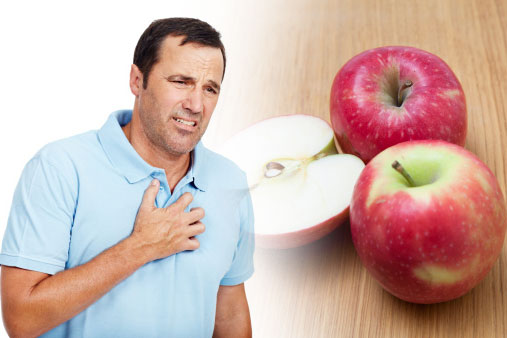 apple for heartburn in hindi