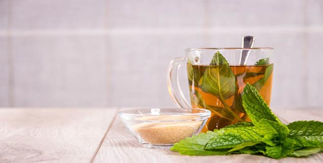 Peppermint tea for weight loss in Telugu
