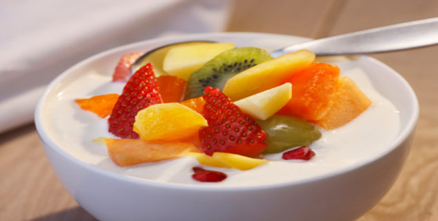 fruit and yougurt