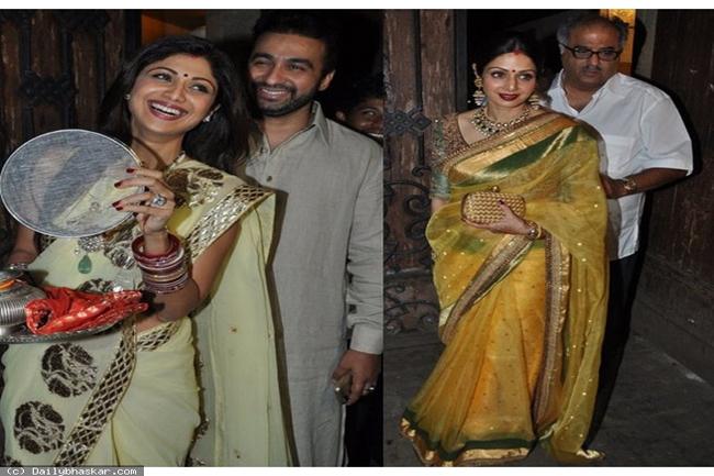 श्री देवी, बोनी कपूर और शिल्पी शेट्टी, राज कुंद्रा